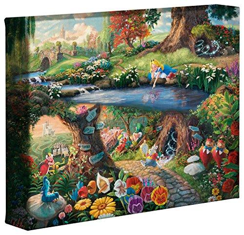 Thomas Kinkade Disney Alice im Wunderland 20,3x 25,4cm Galerie verpackt Leinwand