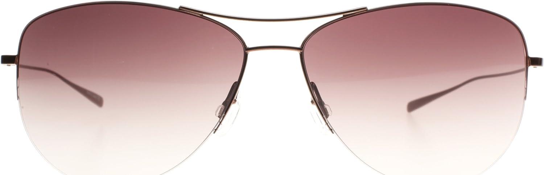 Oliver Peoples 1004 3774 Brown Strummer Aviator Sunglasses