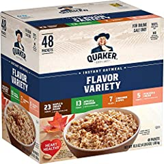 Good Source of Fiber: Quaker Oats provide a good source of fiber to support a healthy digestive system; See nutrition facts for total fat per serving Quaker Oats help support a healthy heart; Diets rich in whole grain foods and other plant foods and ...