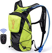 ECEEN LED Turn Signal Backpack Light Reflective Vest 18L Capacity Outdoor Sports Bag Flashing Warning Lamp Security Pack w...