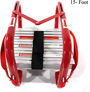 Portable Fire Ladder Two Story Emergency Escape Ladder 15 Foot with Wide Steps V Center Support