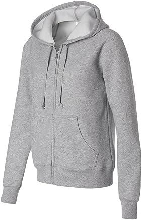 Hanes Women's Fleece FullZip Hood  8 oz