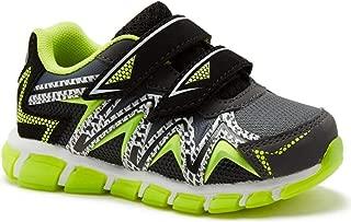 Toddler Boy's 2 Strap Athletic Shoe Black & Lime Green