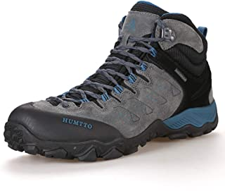 Hiking Shoes for Men Lightweight Mid-Top Hiking Boots Breathable Trekking Outdoor Sneakers