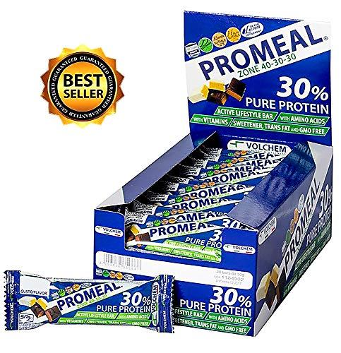 VOLCHEM PROMEAL ZONE 40-30-30 -BARRETTA DIETA A ZONA- 24 barrette da 50 gr gusto Cacao
