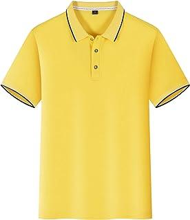 HombresT-Shirts MechaPoloDe La Manga Corta Camisa del Partido (2Piezas)MAmarillo