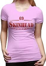 KAMEOR Womens Slim Tees Skinhead 69 My Way of Life New T-Shirt Black
