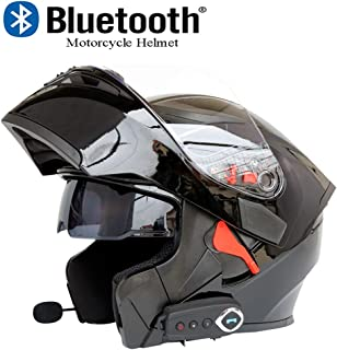 Scooter Touring Caferacer Scooter Dubleir Demi Casque de Moto Scooter R/étro Casque modulable PU Leather Harley Helmet pour Motorcycle