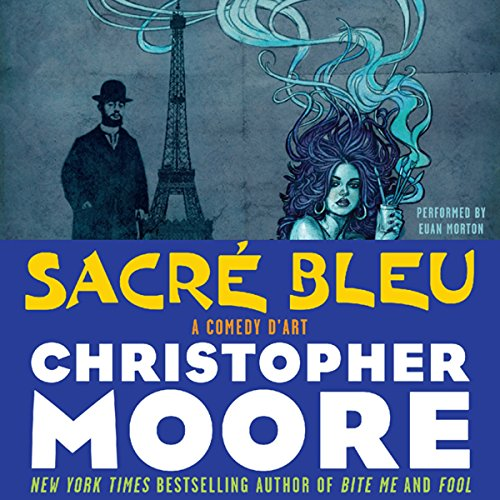 Sacre Bleu     A Comedy d'Art              By:                                                                                                                                 Christopher Moore                               Narrated by:                                                                                                                                 Euan Morton                      Length: 11 hrs and 40 mins     2,218 ratings     Overall 4.1