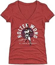 500 LEVEL Kolten Wong Women's Shirt - St. Louis Baseball Shirt for Women - Kolten Wong Emblem