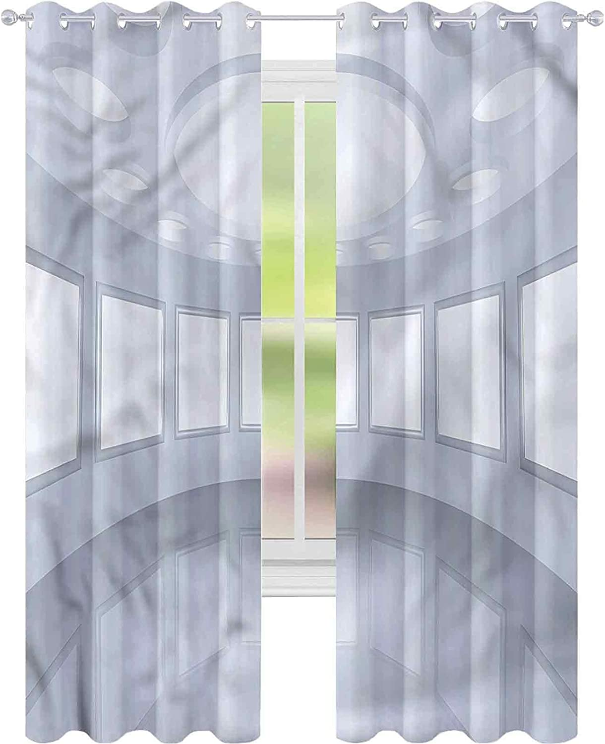 Sales Ultra-Cheap Deals Blackout Curtains Modern Picture Gallery 3D W52 Darke L72 x Room