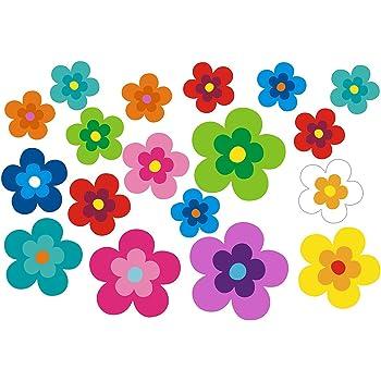 bunt gemischt! Blumendesign Mini 15-Set 5-26 St/ück Autoaufkleber