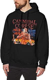 PatriciaANewbury Men's Sports Hoodie Cannibal Corpse Eaten Back to Life Hoody Black