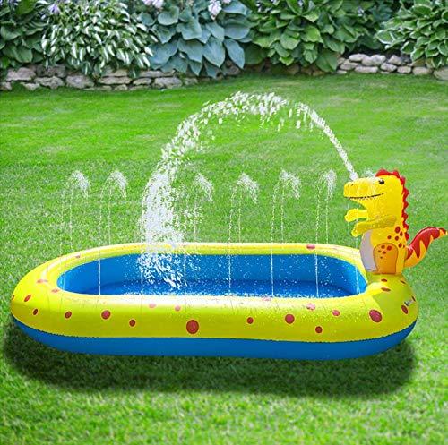 CYLYFFSFC Fuente de Dinosaurio Inflable Play Sprinkler Play Mat Niños Agua para niños Rana Piscina Piscina Tiburón Piscina
