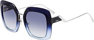 FENDI FF 0317/S HA Glasses, Blue Azure/GY Grey, 53 Women