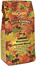 Door County Coffee, Fall Seasonal Flavored Coffee, Wisconsin Harvest Blend, Roasted Chestnuts & Toasted Pralines Flavored Coffee, Limited Time, Medium Roast, Whole Bean Coffee, 8 oz Bag