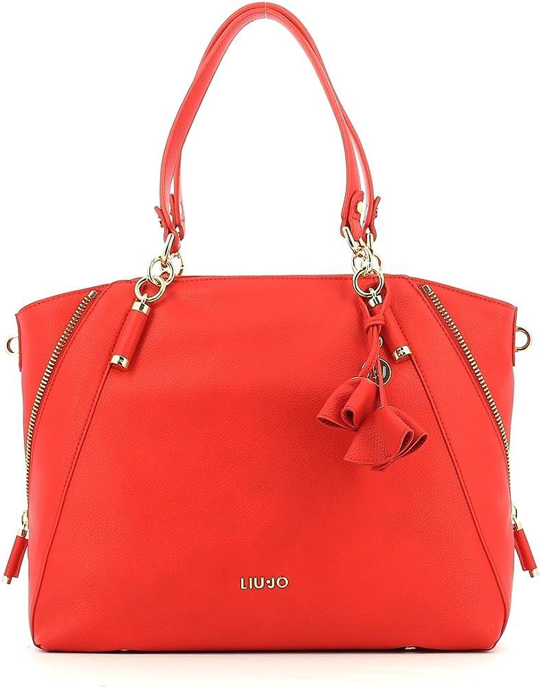 Liu jo niagara shopping bag,borsa per donna,in similpelle N18120E0037