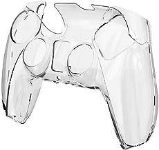 PS5 無地 シリコンスリーブ ゲームハンドルシリコン保護カバー保護 PS5 コントローラとの互換性 トランスペアレント 透明 シリカゲル PC 保護ケースカバースキン コントローラ用 ハンドル保護カバー 滑り止めカバー衝撃と傷 超軽量 触り心地 ゲームプレイ快適性 (A)