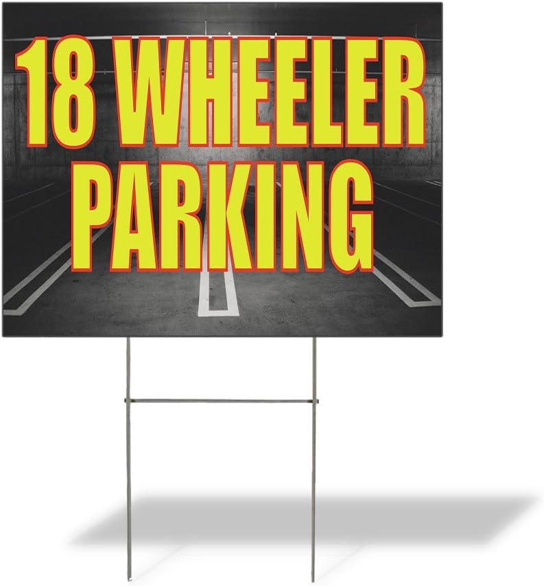 Fastasticdeals Popular product Weatherproof Yard Sign Wheeler Dealing full price reduction 18 Adverti Parking