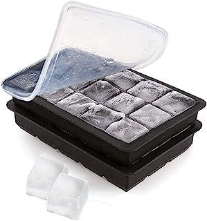 Silicone Ice Cube Trays Sphere Ice Molds Medium-Cube Black