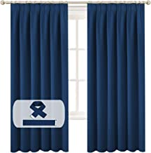 Blockout Curtains Pair for Bedroom/Living Room Blackout Thermal Insulated Curtain Draperies Bonus 2 Tiebacks, Feature Thic...