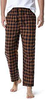 Men's Loose Sleep Bottoms Plaid Flannel Pants Bottoms Casual Pants Sleepwear Underwear XL