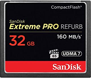 SanDisk Extreme PRO 32GB CompactFlash Memory Card UDMA 7 Speed Up to 160MB/s- SDCFXPS-032G-X46 (Renewed)