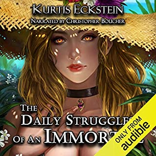 The Daily Struggles of an Immortal: A Superhero Adventure audiobook cover art