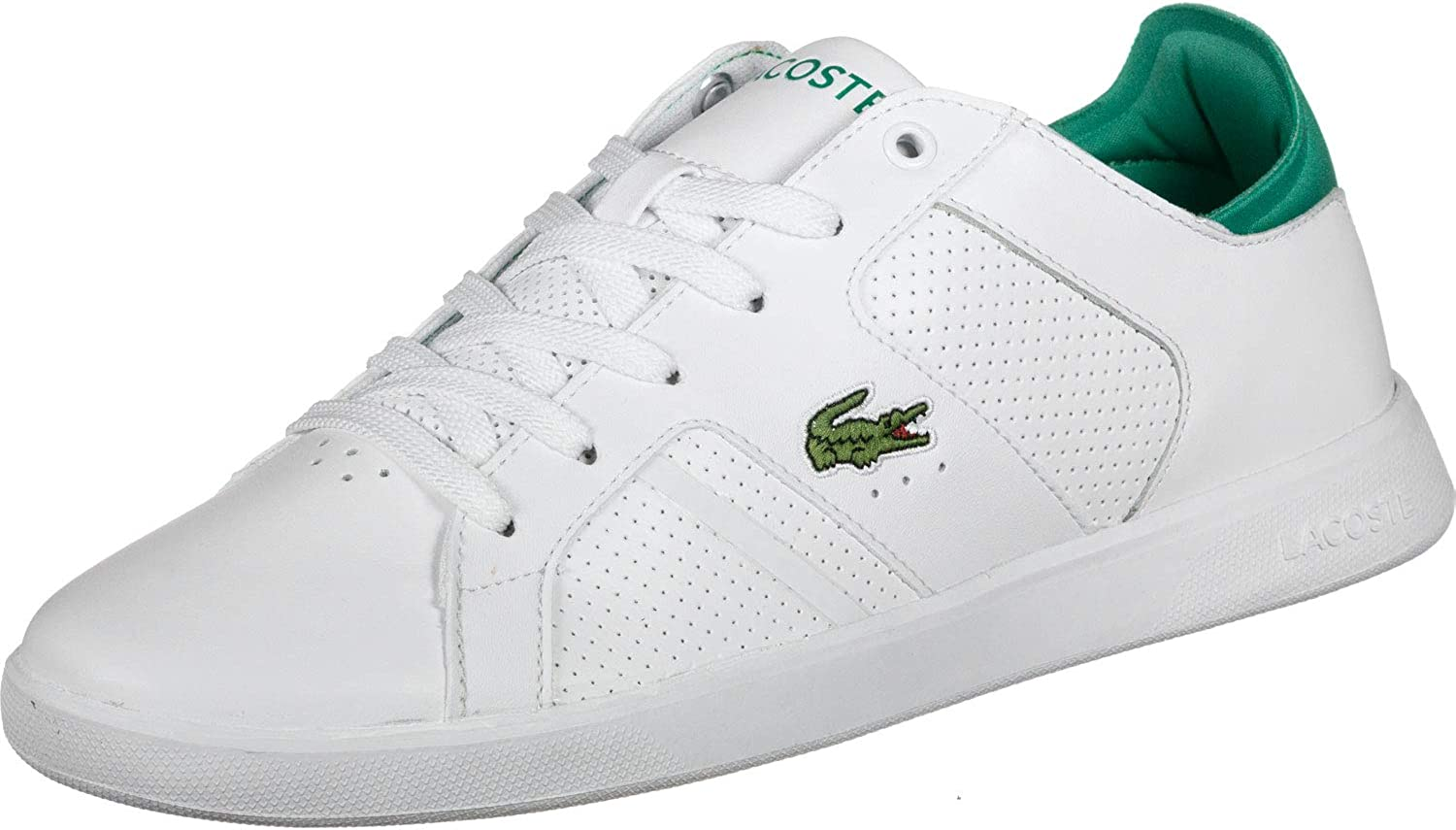 Lacoste Men's Novas 219 1 SMA Leather Trainers, White