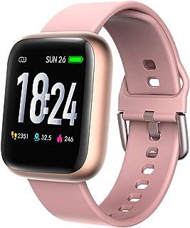 FUN+Smartwatch La Aptitud del Reloj con El Contador De Pasos, Relojes Inteligentes con Seguidor De Actividad Y Podómetros para Monitorear Calorías Quemadas, Muñequera Perseguidor Sueño