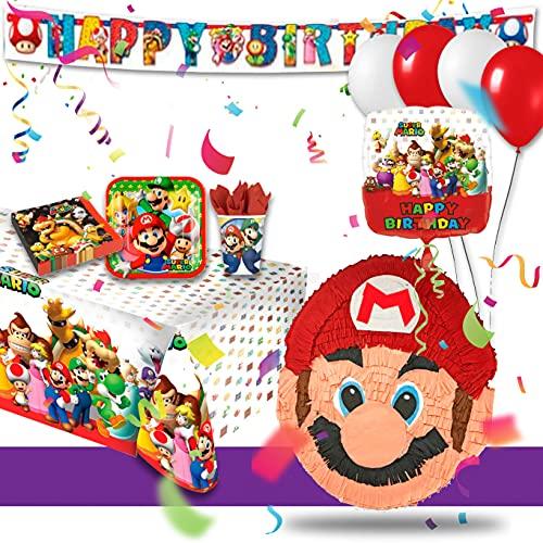 Pignatta Super Mario da arricchire con KIT Party pack coordinato e addobbi da scegliere....