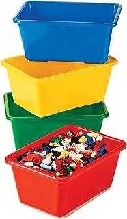 Tot Tutors SM560 Primary Colors Small Storage Bins, Set of 4
