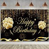 Happy Birthday Party Hintergrund Banner, Großer Stoff