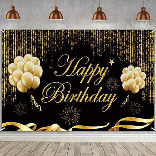 Banner de Fondo de Happy Birthday de 6 x 3,6 pies, Cartel de