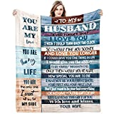 Gifts for Husband Him Gift from Wife Blanket for Christmas Wedding Anniversary Birthday Fathers Valentines Halloween Thanksgiving Day Romantic Husband Gifts Ideas Ultra Soft Blankets 80x60inch