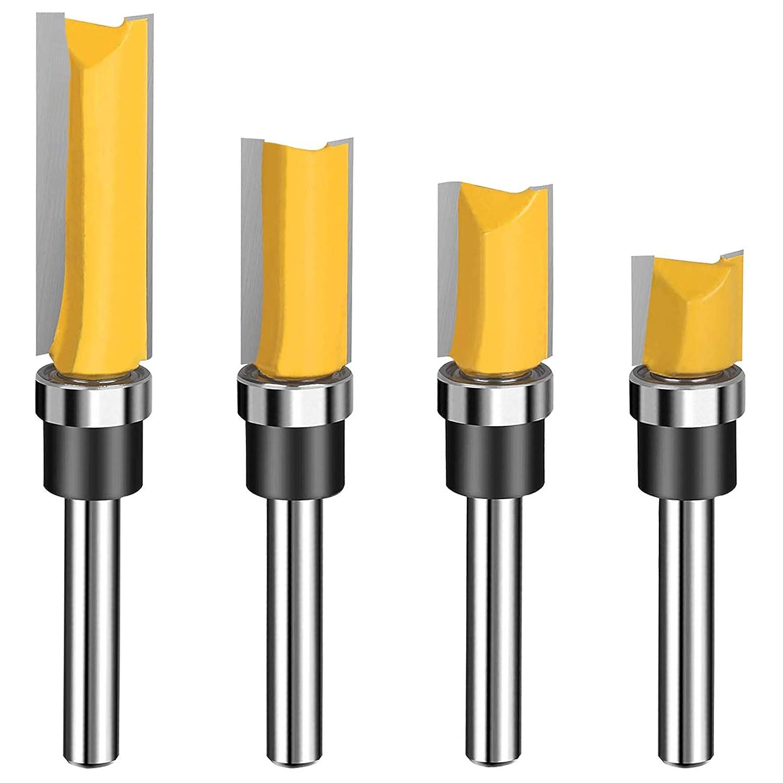 1 4 Shank Carbide Pattern Flush Router Rout Trim Bit [Alternative dealer] Top Bearing Popular standard