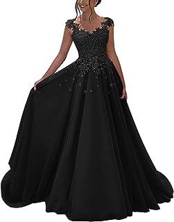 551350561aadb1 Lovelybride Prinzessin Ärmellos Abendkleid Lange mit Appliques Spitze Party  Kleid