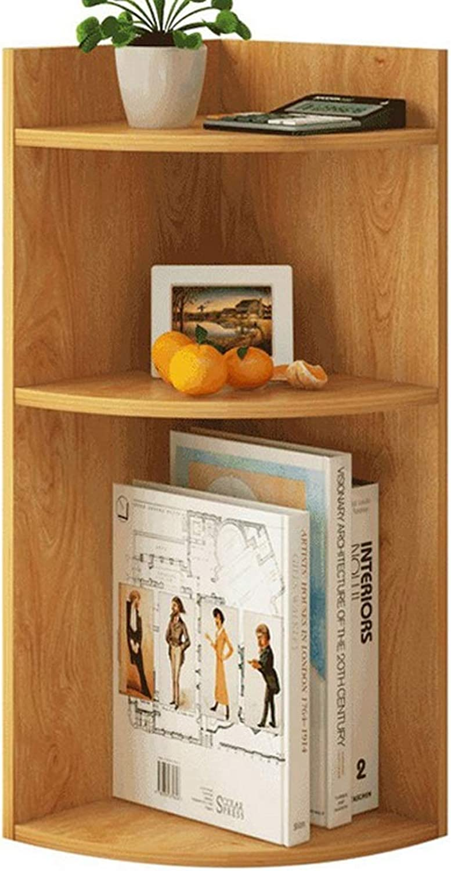 Desktop Small Bookshelf Rack, Simple Table Corner Storage Rack Grid, Multi-Layer Home Creative Desk Shelf (color   Wood color)