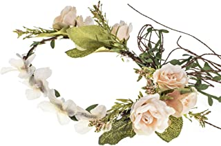 Floral Fall Woodland Wedding Flower Crown Bridal Rose Halo Maternity Photo Props NS04