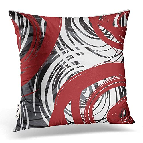 Astounding Black And White Abstract Throw Pillows Amazon Com Theyellowbook Wood Chair Design Ideas Theyellowbookinfo
