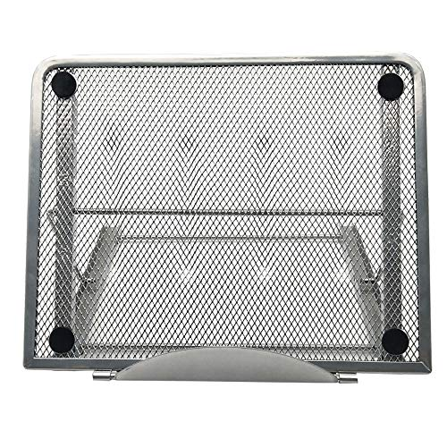 Metal Mesh Ventilated Adjustable Portable Laptop Stand for Laptop/Notebook/iPad/Tablet and More(Silver)