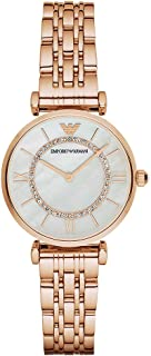 Emporio Armani Womens Quartz Watch, Analog Display and Stainless Steel Strap AR1909