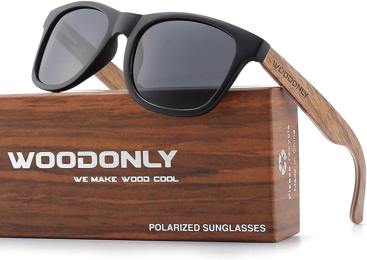 WOODONLY Retro Year-end annual account Wood Polarized Sunglasses Sacramento Mall Matte Style - Fini Cool