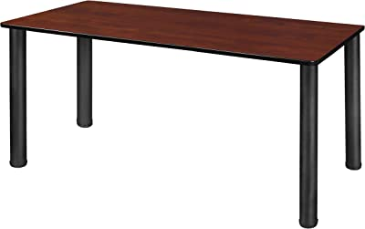 "Regency Kee Training & Activity Table with with Slim Lightweight Tabletop, 60"" x 24"", Cherry/Black"