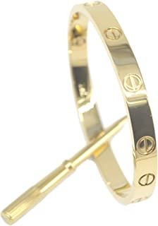 Fashion Gold Plated Stainless Steel Love style Bangle Bracelet with Screwdriver