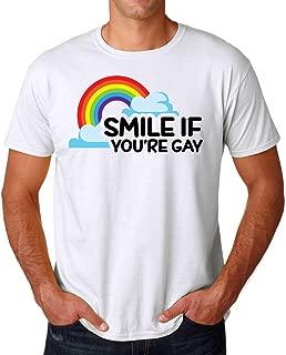 Smile If You'Re Gay LGBT Men's T-Shirt Hombre Camiseta