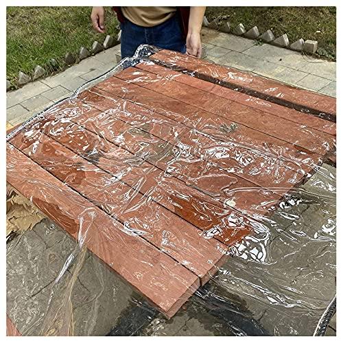 N\A ZHANGQINGXIU Lonas Impermeables Exterior,Lona Transparente De PVC, Cortina De Lluvia Resistente Al Agua De 0,3 Mm, Tela Espesa Perforada para Mantener Caliente, 43 Tamaños