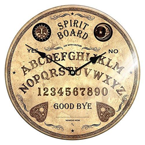 Elegante glazen wandklok belangrijke board 34cm okkult spiraalboard klok