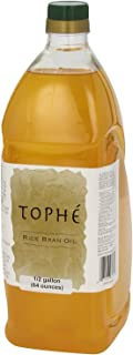 RICE BRAN OIL | All Natural, Made from 100% Non-GMO Rice | Rich in Vitamin E and Gamma-Oryzanol | Unfiltered, Non Winterized, No Trans Fat and Heart Healthy | 1/2 Gallon By Tophe