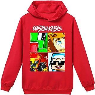 Fashion Boys Funny YouTube Gamer Long Sleeve Hooded Girls T-Shirt for Kids Tees Tops
